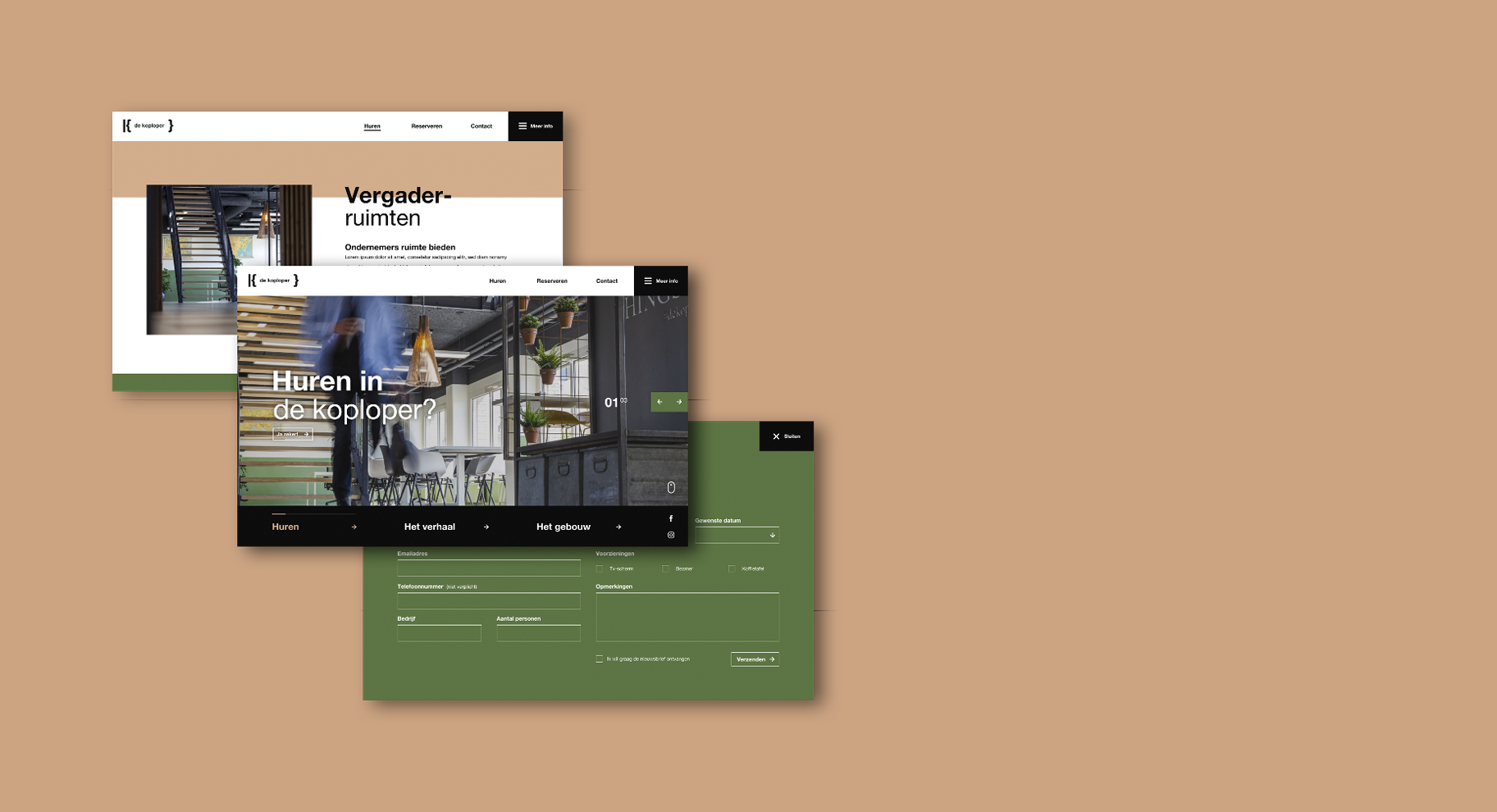 De Koploper Goes - BlackDesk webpagina's overzicht