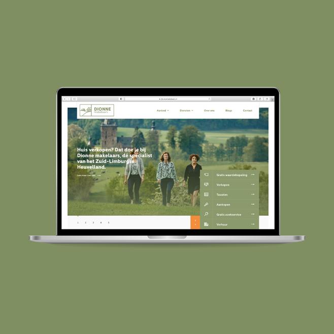 BlackDesk Case - Dionne Makelaars identiteit ontwikkeling webdesign