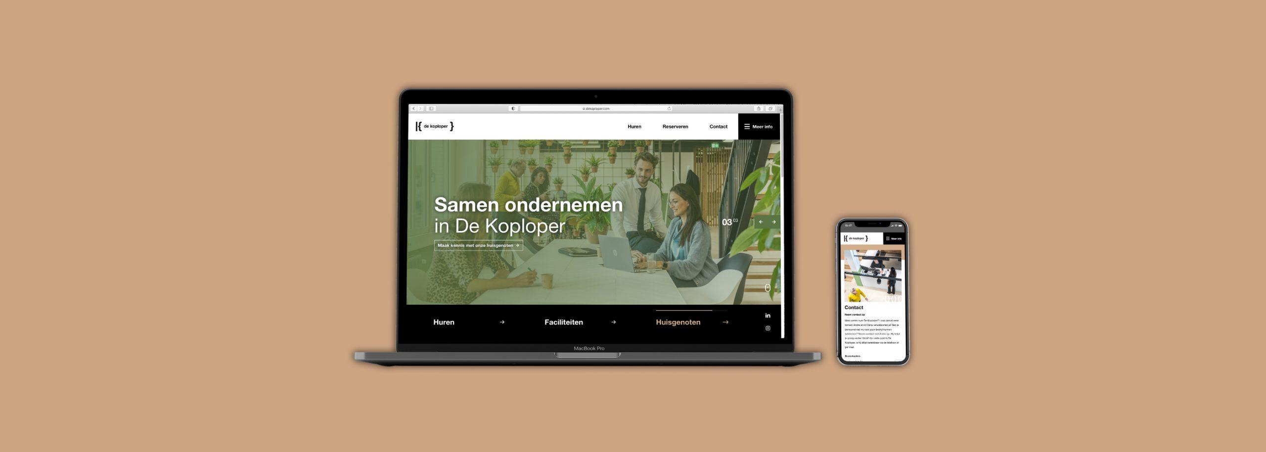 De Koploper Goes - Responsive website mobiel vriendelijk - BlackDesk