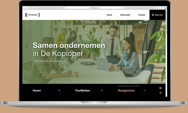 BlackDesk - De Koploper Goes Mockup - website identiteit